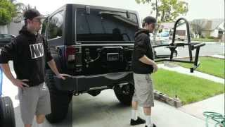 "Jk Swing Out Tire Carrier Install - Stock To Rock Episode 14 - ""the Newerejk"""