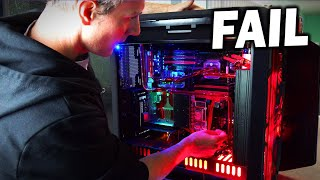 "My custom ""Darth Jar Jar"" water cooled build failed miserably..."