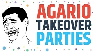 Agario Gameplay Party Domination - Agar.io Live