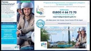 Programa de Regularización, Actualización y Registro de Motocicletas 2013