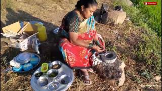 Cooking Goat Lamb Mutton Chops Fry using Green Chilli Prepared by my mom Tasty Village Food Factory