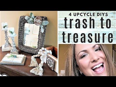 FARMHOUSE BEAD GARLAND - 4 Trash to Treasure DIYs