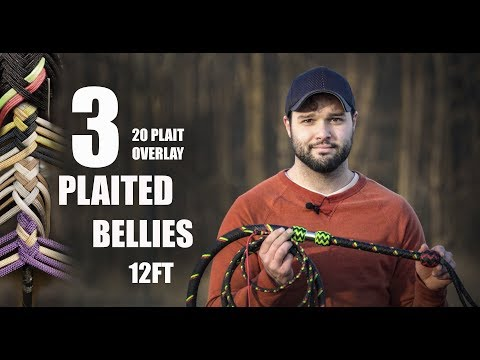 How to Make a Nylon Bullwhip With 3 Plaited  Bellies | Nick's Whip Shop