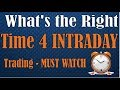 What is the Right Time to Trade - Intraday Trading