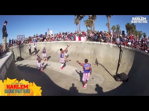 Harlem Globetrotters vs. The Generals at Venice Beach Skate Park - #AmazingBasketball