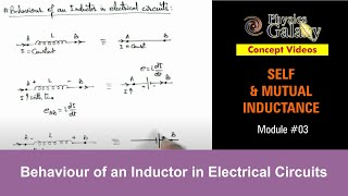 3. Physics | Self & Mutual Induction | Behaviour of an Inductor in Electrical Circuits |Ashish Arora