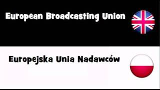 SAY IT IN 20 LANGUAGES = European Broadcasting Union
