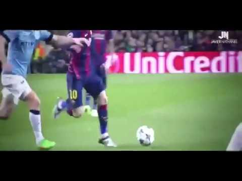 لقطات جميله جدا ليونيل ميسي وهو يفحص لاعب مانشستر ستي في مسابقة دوري ابطال اوربا