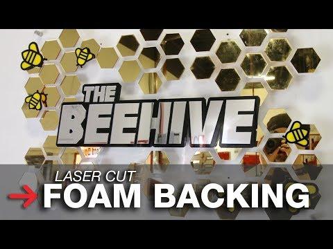 Foam Sign Letter Backing   Laser Cut Foam   Laser Cut Sign
