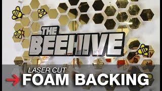 Foam Sign Letter Backing | Laser Cut Foam | Laser Cut Sign