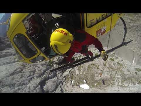 Auxiliado un escalador herido en el pico Peña Santa de Castilla