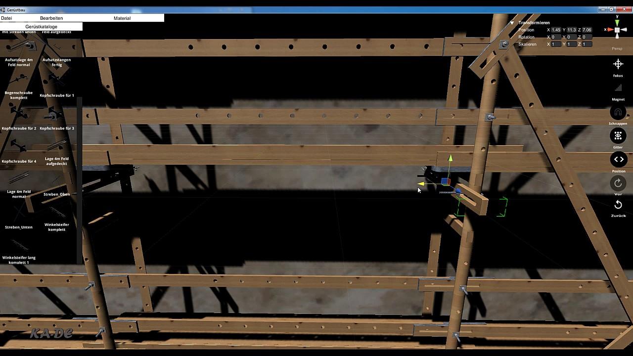 holzgerüst aufbau2/wooden scaffolding - youtube