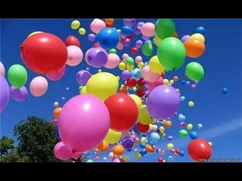 Отпускаем шарики в небо на счастье.Классный эксперимент.