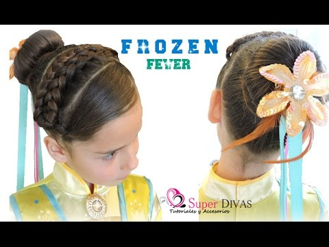 Peinado Inspirado En Frozen Fever Hairdo Inspired By Frozen Fever