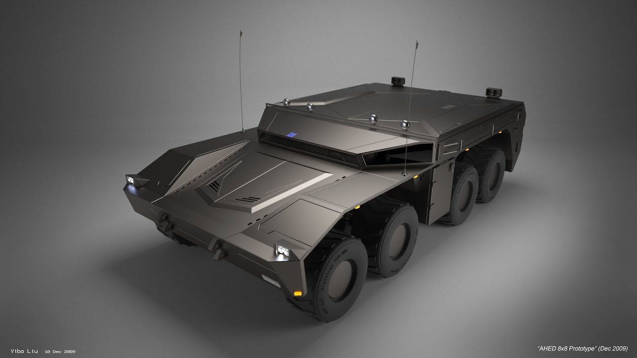 Watch on robots fighting vehicle
