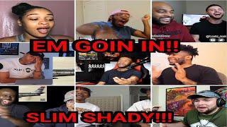 Reactors Reacting To Eminem The Ringer KAMIKAZE ALBUM REACTION COMPILATION