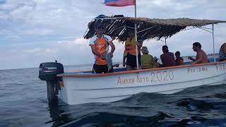 Анапа Витязево 2020 развлечения на пляже/катание на лодке к затонувшему кораблю