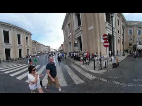 Samsung Gear 360 - European Tour - Day 05 - Walking Around Vatican City pt.3