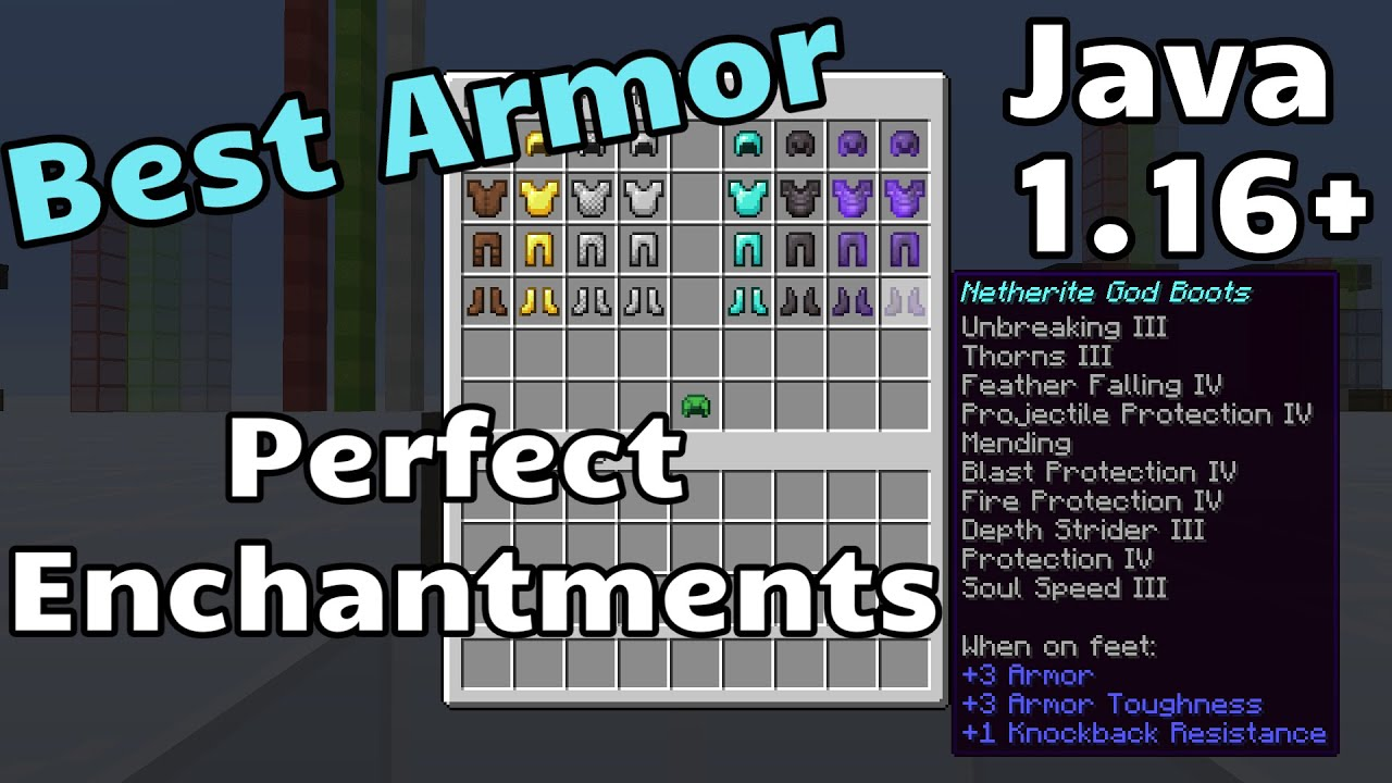 Best Armor Best Enchantments for Minecraft Java 1 16 YouTube