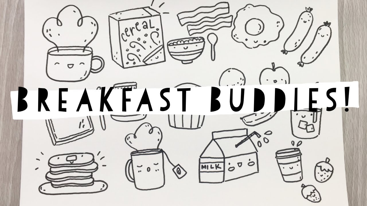 Breakfast Buddies Doodle With Me Youtube