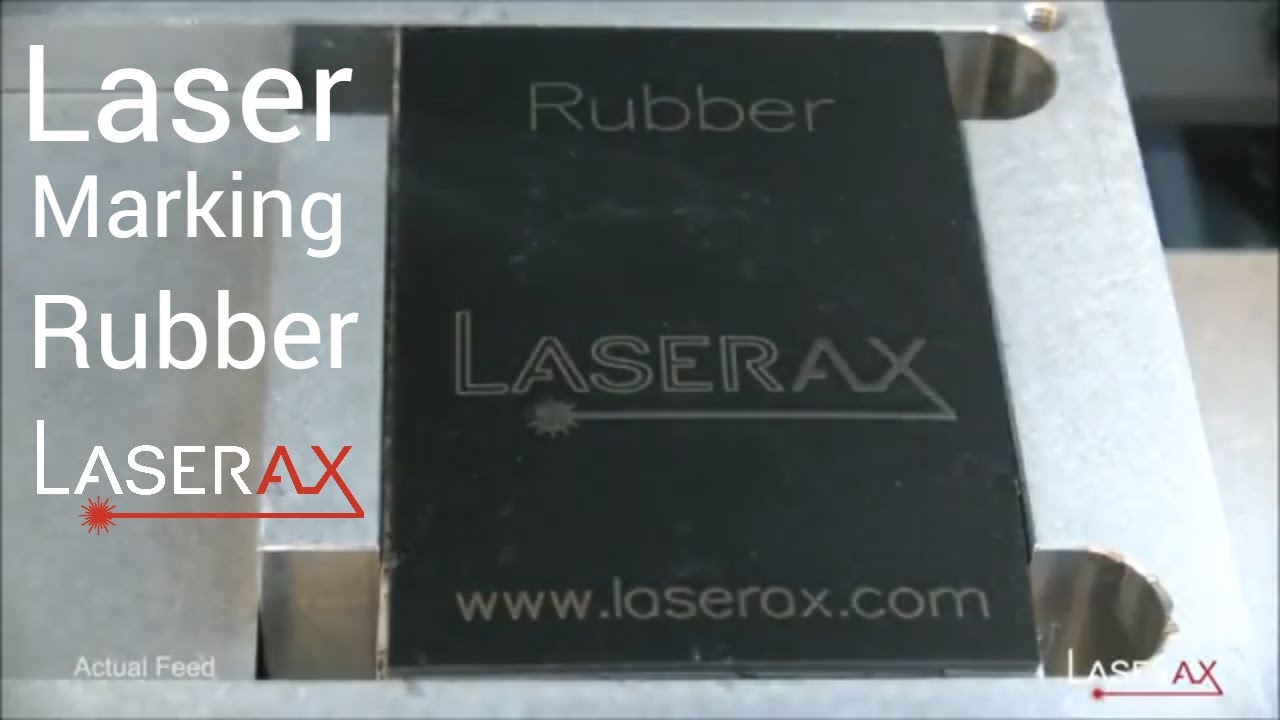 Laser Marking on Rubber  Demonstration, Etching of a Rubber Surface |  Laserax