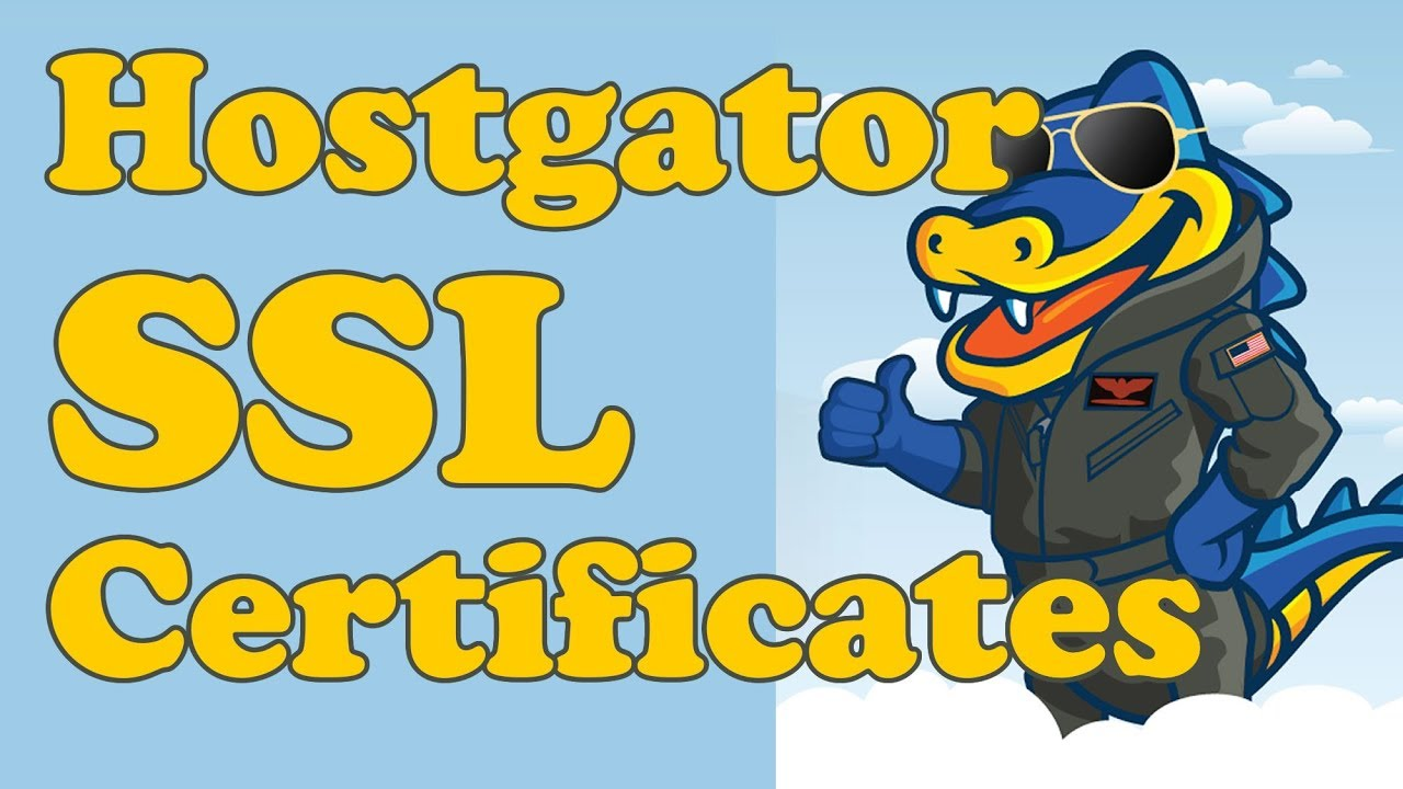 Adding An Ssl Certificate Https To Your Hostgator Website Youtube