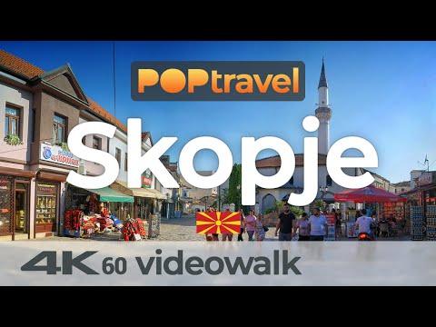 Walking in SKOPJE / North Macedonia 🇲🇰- 4K 60fps (UHD)