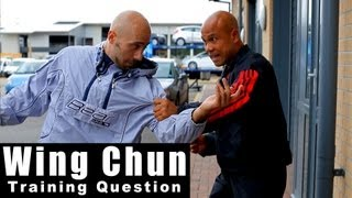 Wing Chun training - wing chun how to deal with grab and punch in the street Q33