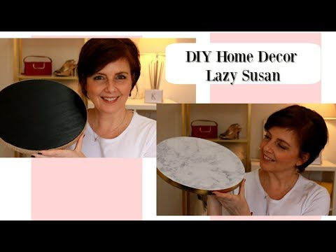 DIY Lazy Susans - How to make Lazy Susan with Dollar Store items