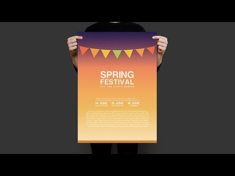 Spring Festival Poster Design Tutorial In Adobe Photoshop