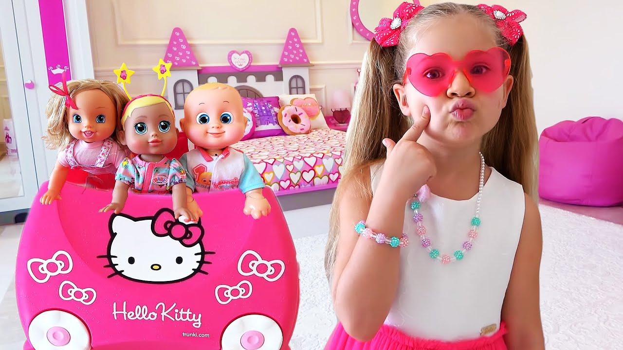 Diana y Roma - Video de colección con juguetes para niños