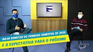 REITOR FALA SOBRE AULAS REMOTAS DO PRIMEIRO SEMESTRE DE 2020 E A EXPECTATIVA PARA O PRÓXIMO.