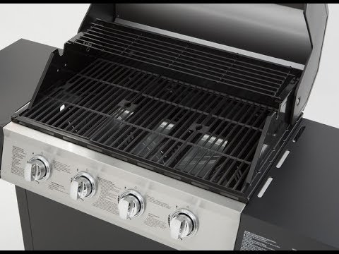 Review Dyna Glo 4 Burner Open Cart Lp Gas Grill In Black Model Dgf493bnp
