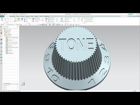 SIEMENS NX 10 - HOW TO CREATE 3D TEXT IN MODEL