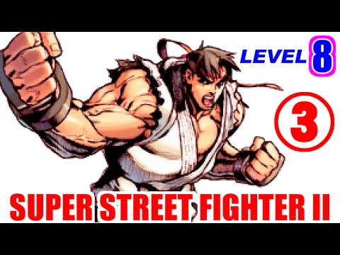[3/3] リュウでレベル8(最強)に挑戦! スーパーストリートファイターII [GV-VCBOX,GV-SDREC]