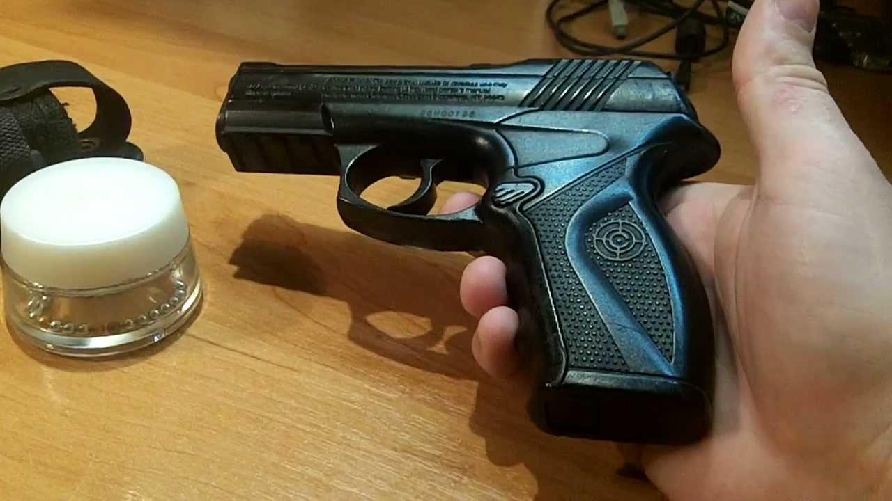 Пневматический револьвер Crosman Vigilante - YouTube