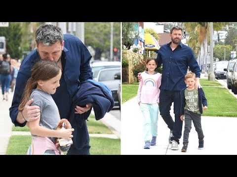 Doting Dad Ben Affleck s His Soft Side At Sunday Services