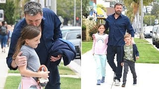 Doting Dad Ben Affleck Shows His Soft Side At Sunday Services