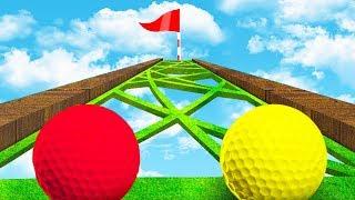 КОМУ БОЛЬШЕ ПОВЕЗЕТ? МЕТКИЙ УДАР ЧЕРЕЗ ОПАСНЫЕ ДЫРКИ ПРЯМИКОМ В СЛОЖНУЮ ЛУНКУ В ГОЛЬФ ИТ (Golf It)