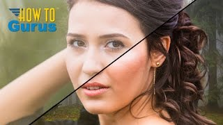 Photoshop Refine Edge for Hair Masking in CS4 CS3 to Replace Background Tutorial