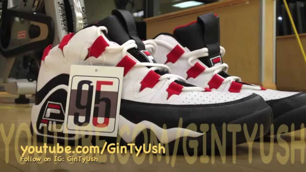 Fila 95 Retro Grant Hill Sneaker Review! Throwback! PISTONS!