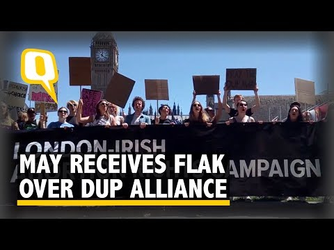 Pro-Choice, LGBT Groups Protest Against Conservative-DUP Coalition