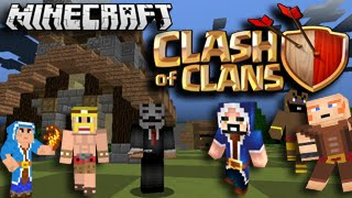 "Minecraft Clash of Clans ""Craft of Clans"" Servers Gameplay Walkthrough Part 1"