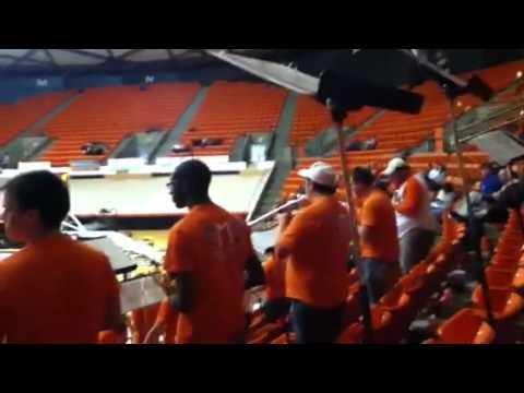 SHSU Basketball Band SHAKE THAT THANG trumpet wailing