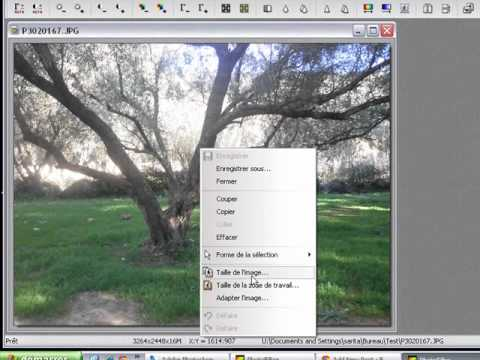 Modifier Les Dimensions D Une Image Sous Photofiltre Youtube