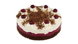 """Пирог """"Черный лес"""" 🍒 По вкусу не уступает одноименному торту. 4к видео"""