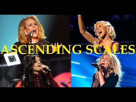 ASCENDING SCALES! - Famous Female Singers