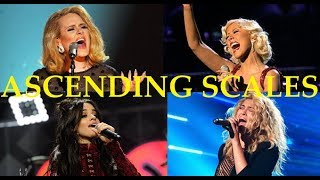 ASCENDING SCALES! - Famous Female Singers