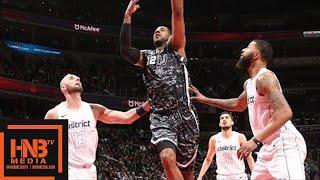 San Antonio Spurs vs Washington Wizards Full Game Highlights / March 27 / 2017-18 NBA Season