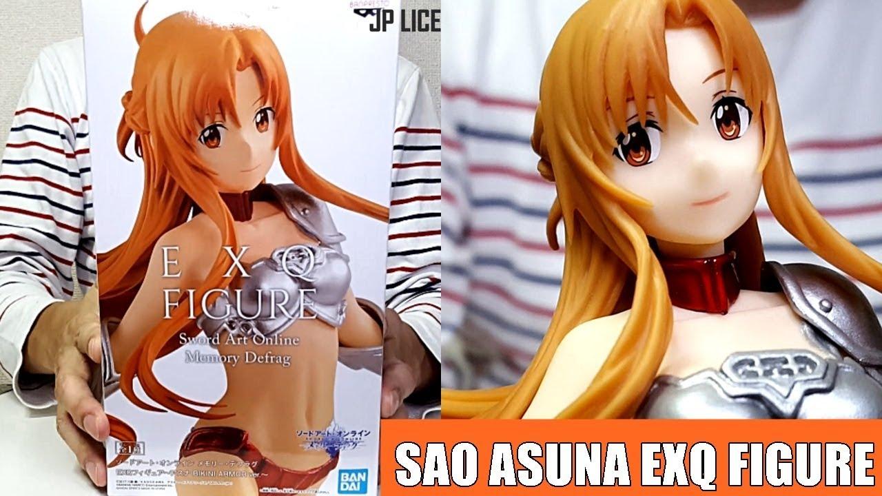 Sword Art Online BANPRESTO Asuna Memory defrag EXQ Figure BIKINI ARMOR SAO Prize